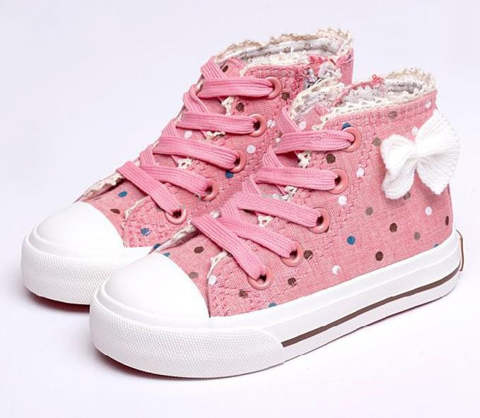 Fashion Korean Childrens Athletic Shoes Girls Kid Canvas