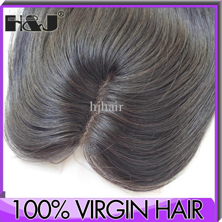 Middle Parting Lace Closure Invisible Hair Closure Piece