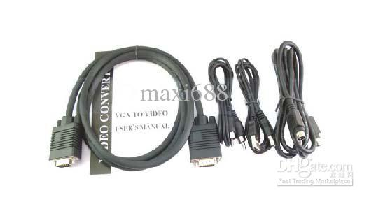 Universal PC VGA To TV AV RCA Signal Adapter Converter