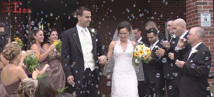 Individual Bubbles Wedding