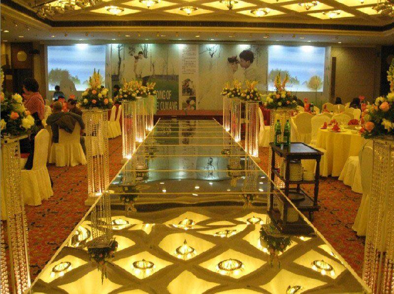 Wedding Centerpieces Mirror Carpet Aisle Runner Gold