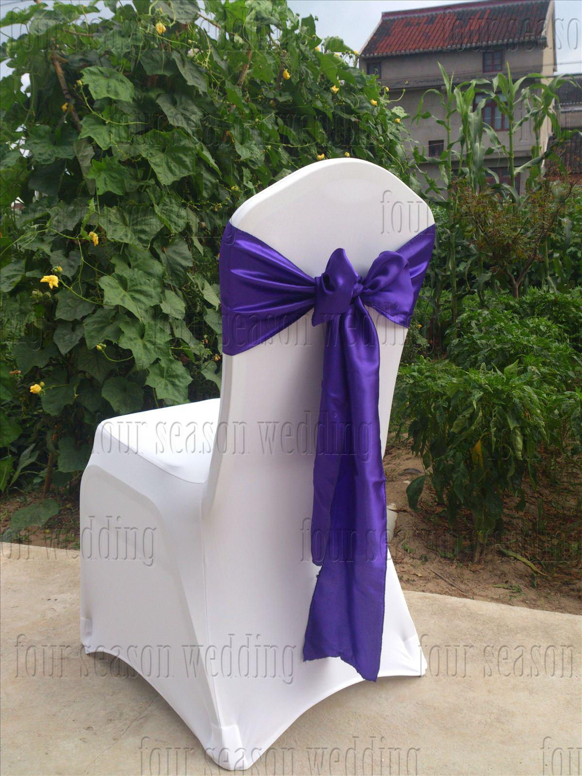 purple chair sashes for weddings staples skate satin sash bow ribbon wedding party banquet
