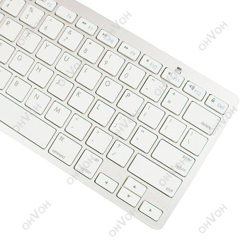 S5q Bluetooth Wireless White Keyboard For Pc Macbook Mac