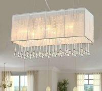 K9 Crystal Lighting Fixture Fabric Rectangle Chandelier ...