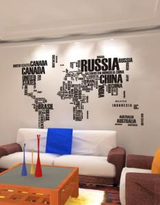 World map wall stickers home art decor decals for living room bedroom walls decal online also rh dhgate