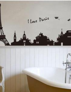 Eiffel tower building in romantic pairs large black art wall decor stickers for living room removable decorative decals bedroom designs also rh dhgate