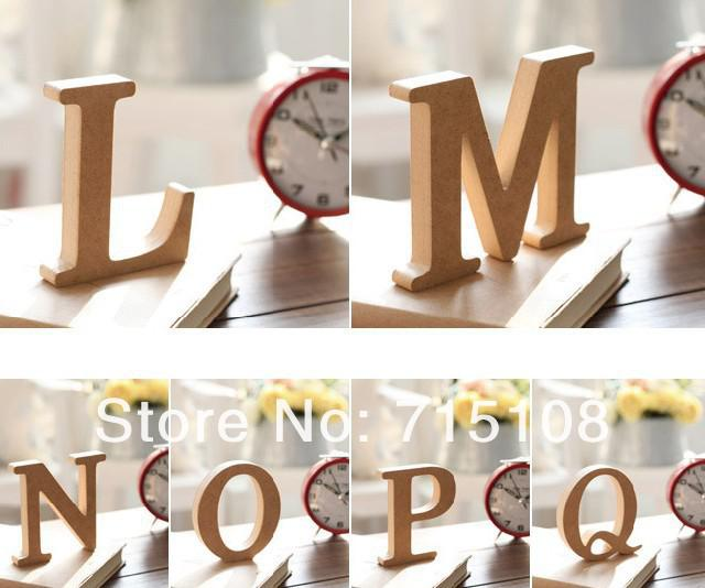Wooden Letter Home Decoration Free Standing Alphabet A Z Party