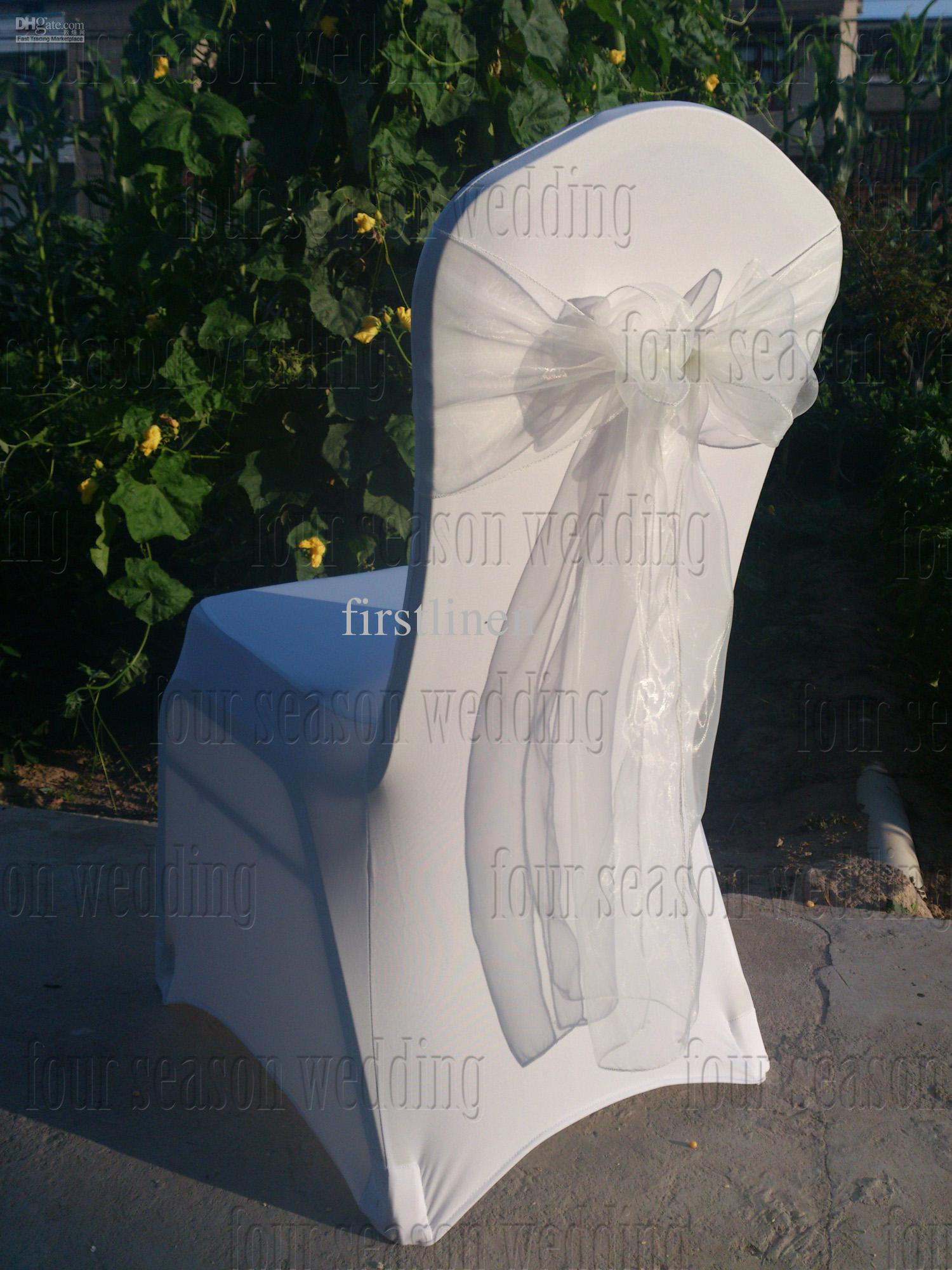 chair covers wholesale china t4 spa manual white spandex 43white organza