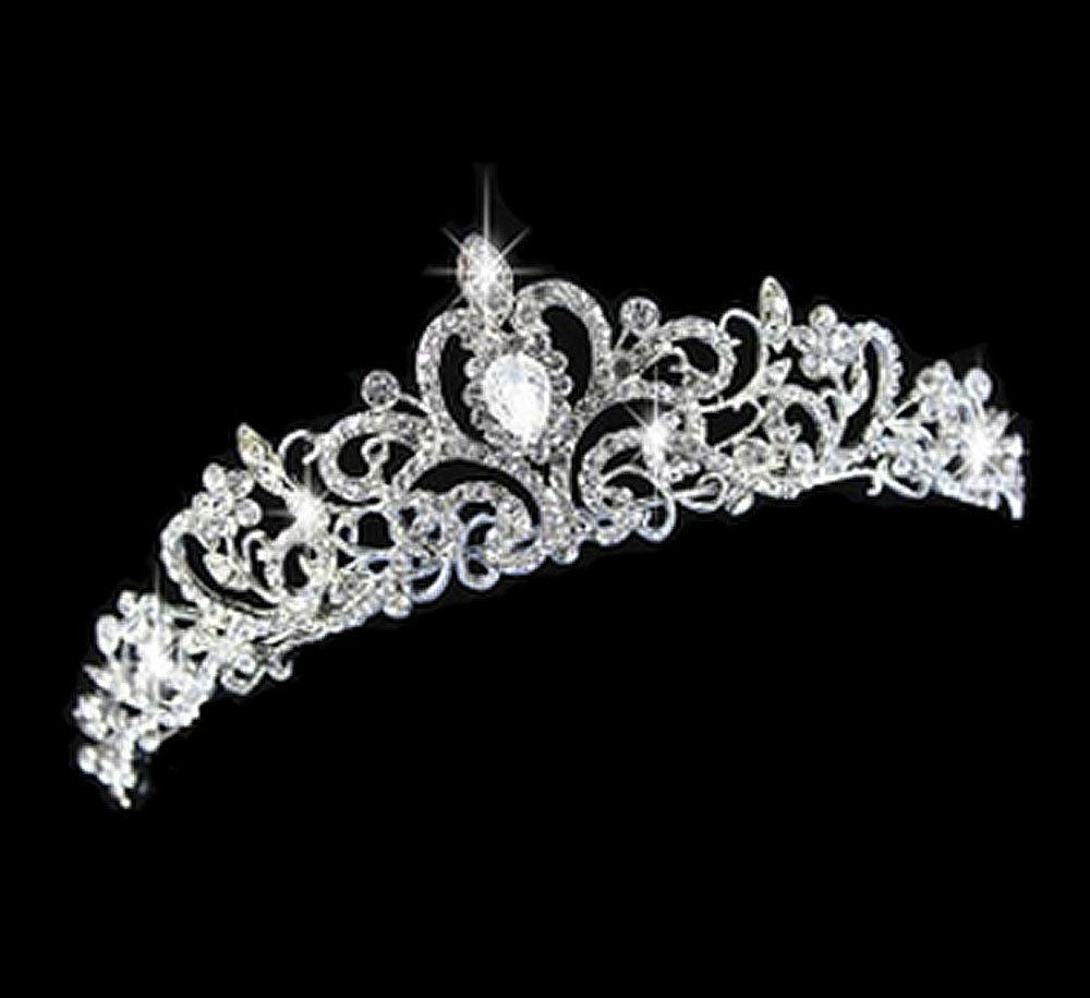 WEDDING BRIDAL RHINESTONE CRYSTAL VICTORIAN CROWN TIARA