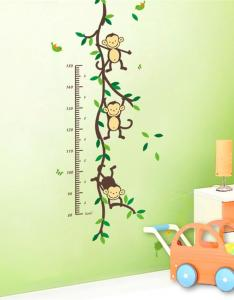 Height chart wall decals naughty monkey cartoon decor stickers for kids bedroom nursery playroom vinyl sticker art from also rh dhgate