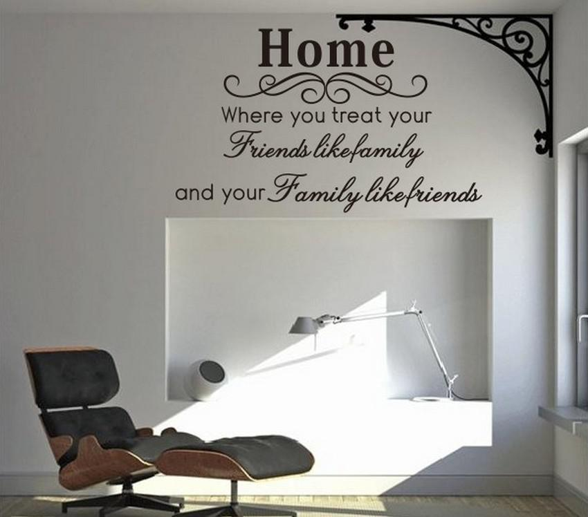 Home Family Friends Spiritual Wall Quote Decal Decor