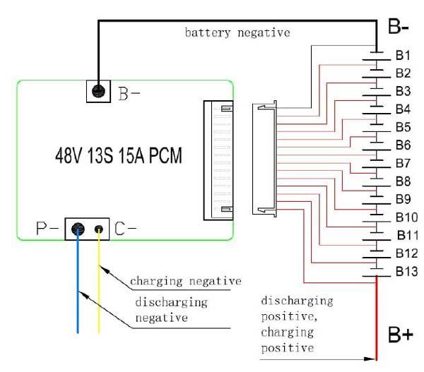 7s bms wiring diagram gibson p90 discount 24v 36v 48v battery pcm used for 3.2v lifepo4 cell and 3.7v li ion lithium ...