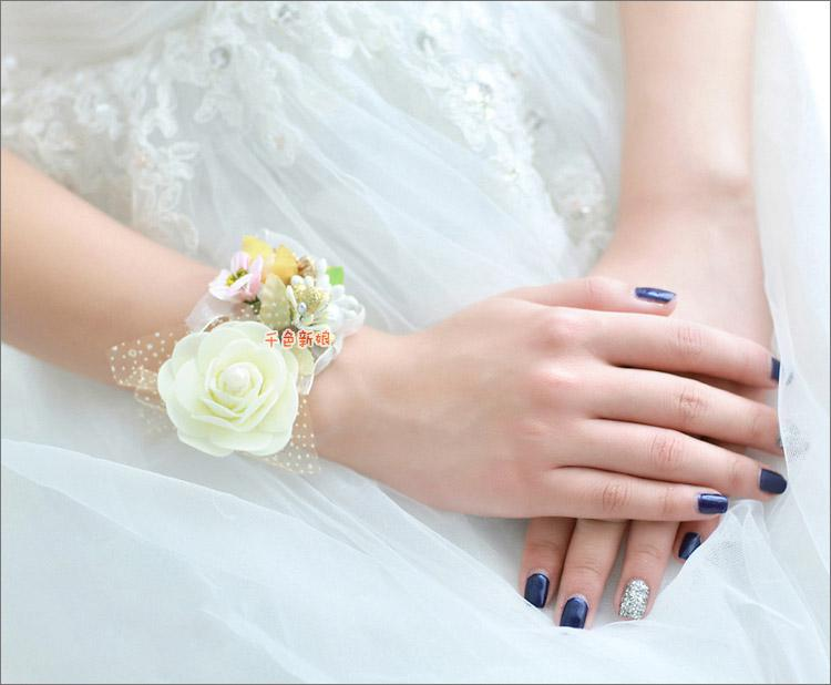 Bridal Flowers Colorful Hand Garland Korean Wedding