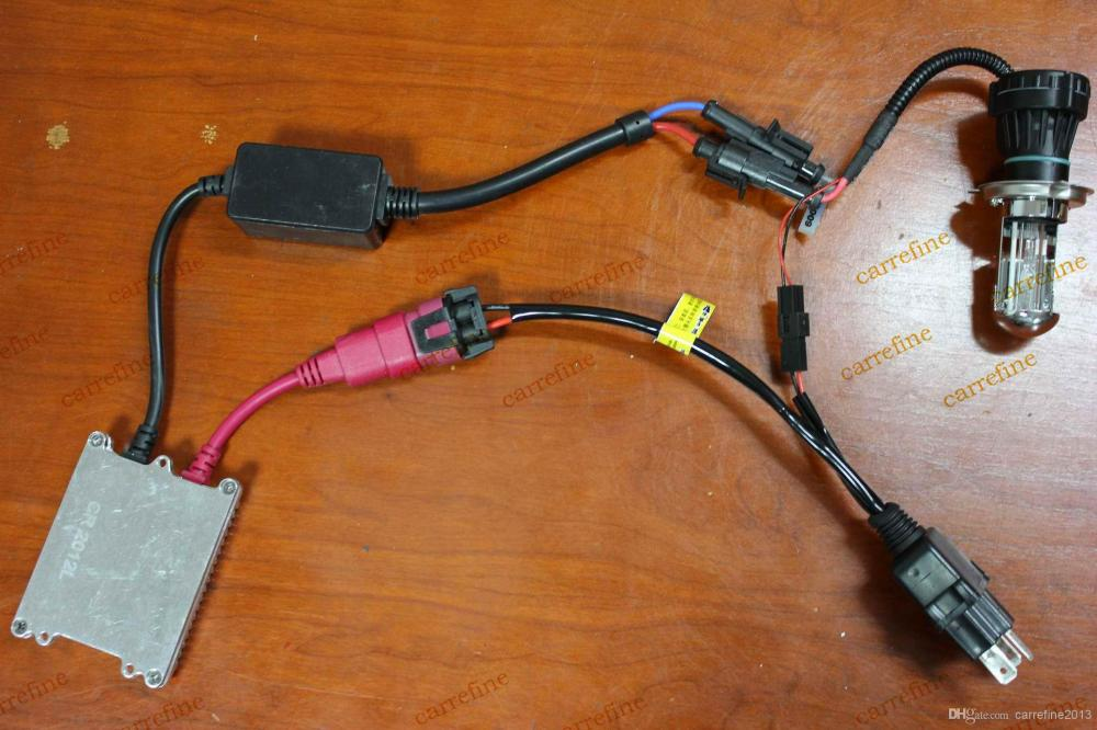 medium resolution of car hid xenon bulb h4 h l wiring harness controller flexible small relay cable