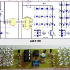Led Strobe Light Circuit Diagram 480v To 240 120v Transformer Wiring Diy Kit Red Blue Color Ne555 Cd4017 Gadgets