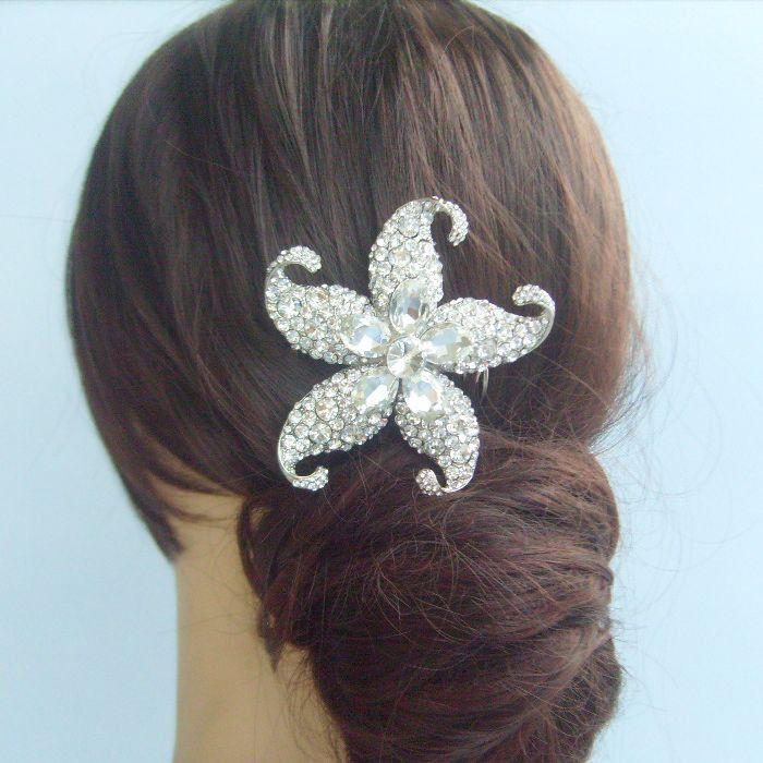 2019 wedding bridal hair accessories starfish hair comb rhinestone crystals fs04824c1 from freebee2009 13 23 dhgate com