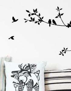 Tree branch and birds art decorative wall stickers black vinyl for room decoration also rh dhgate
