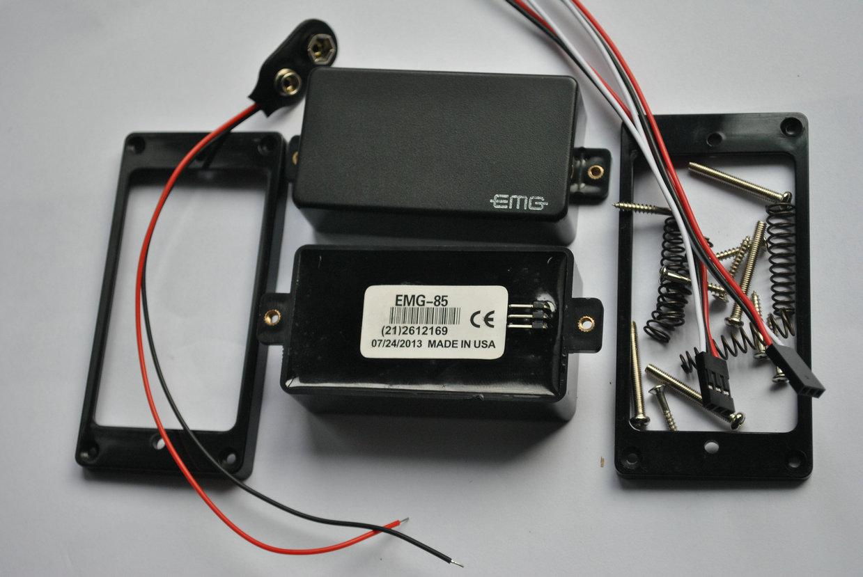 hight resolution of emg 81 85 9 v battery active pickups closed type electric guitar pickups power emg pickups
