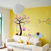 New Design Large Tree Wall Stickers Animal Paradise ...