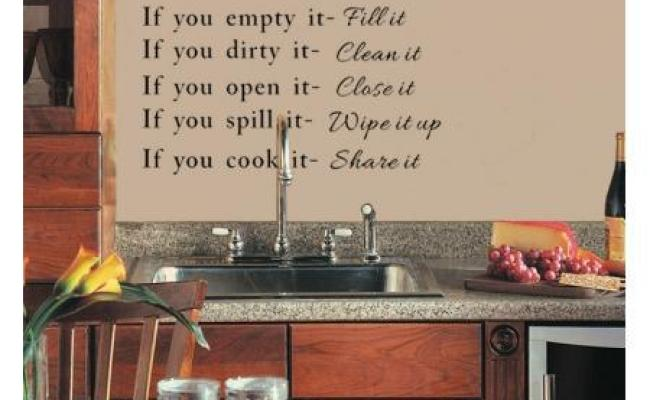 Hot Sale Our Kitchen Rules Quote Vinyl Art Wall Stickers