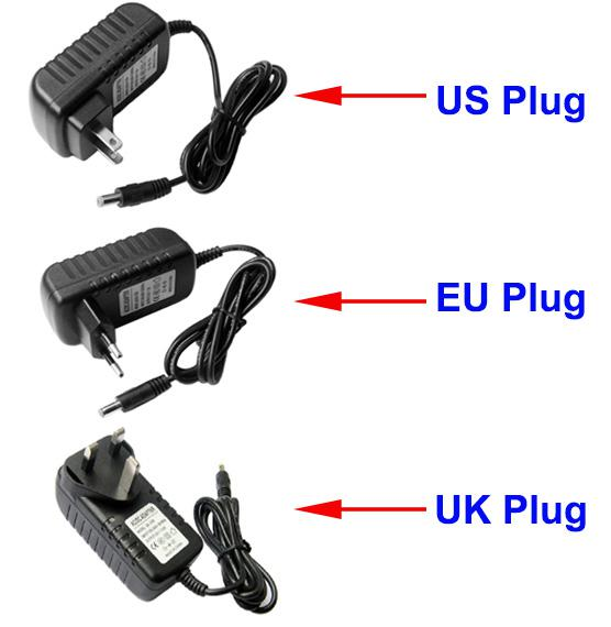 AC 100 240V To DC 12V 2A UK Plug Power Adapter Charger