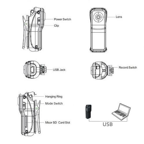 S5Q Mini Sport Camera DVR DC DV Camcorder Hidden Digital