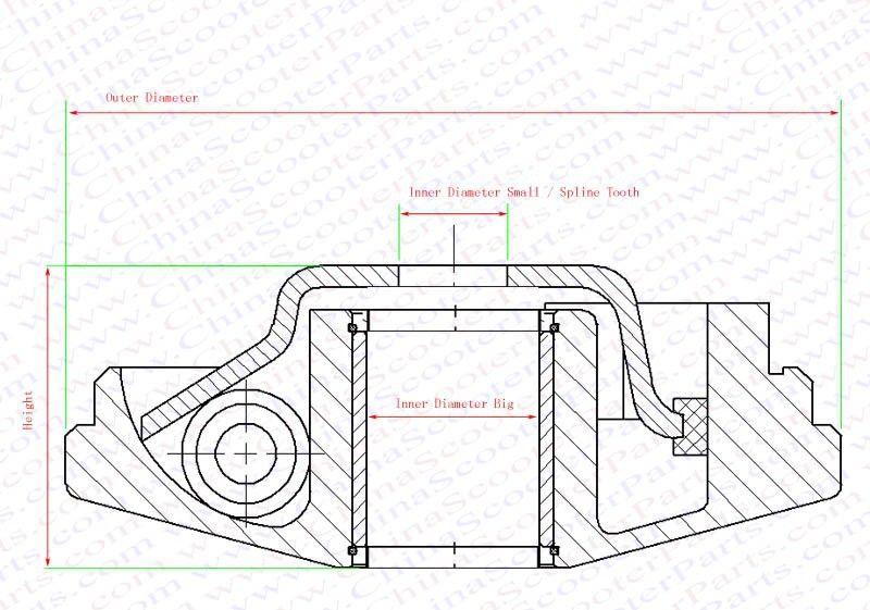 2017 89mm 20mm 14mm Performance Variator Set Gy6 50cc 60cc