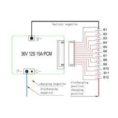 E Bike Battery Wiring Diagram Cash Conversion Cycle Compre Batería De 24v 36v 48v Pcm Bms Usada Para La Célula 3.2v Lifepo4 Y Litio ...