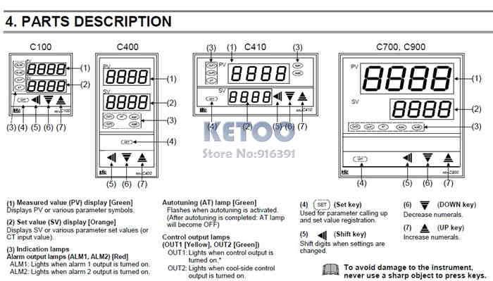 Dual Digital PID Temperature Controller REX-C100 with