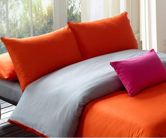 Bedding ModernOrange Grey Duvet SetTwinQueen King Comforter SetsCotton Bedspread