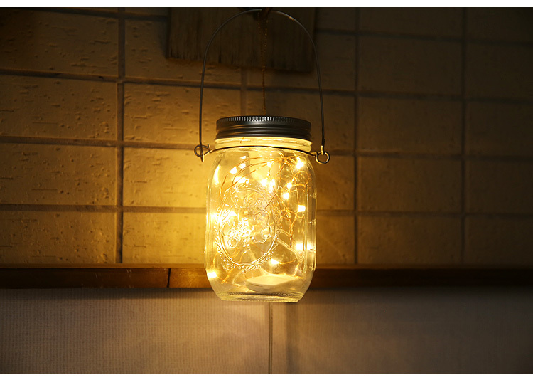 solar energy mason jar