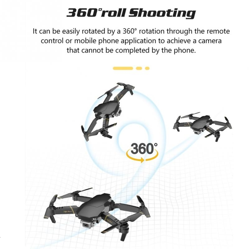 2020 FPV WIFI RC Drone EXA With 1080P 4K HD Camera Drones