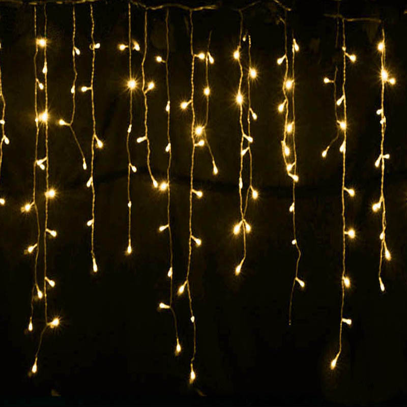 Fall String Lights Wallpaper Weddings 5 Meters Waterproof Led Ice Bar Lamp Curtain Lights