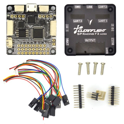 small resolution of sp pro racing f3 flight controller board cleaflight 6dof 10dof deluxe with brano and for dron quadrocopter quadcopter helicopter
