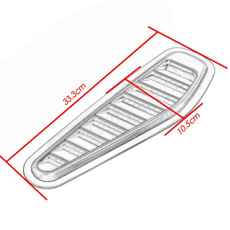 2018 ABS Plastic Car Air Flow Intake Hood Scoop Turbo