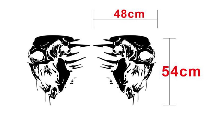 Compre 2 Unids Etiqueta Engomada Del Lado Del Coche Skull