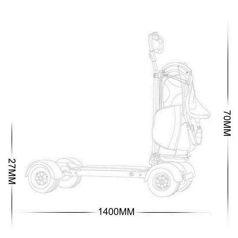 Golf Scooter Board 4 Wheel Electric Scooter For Adults 10