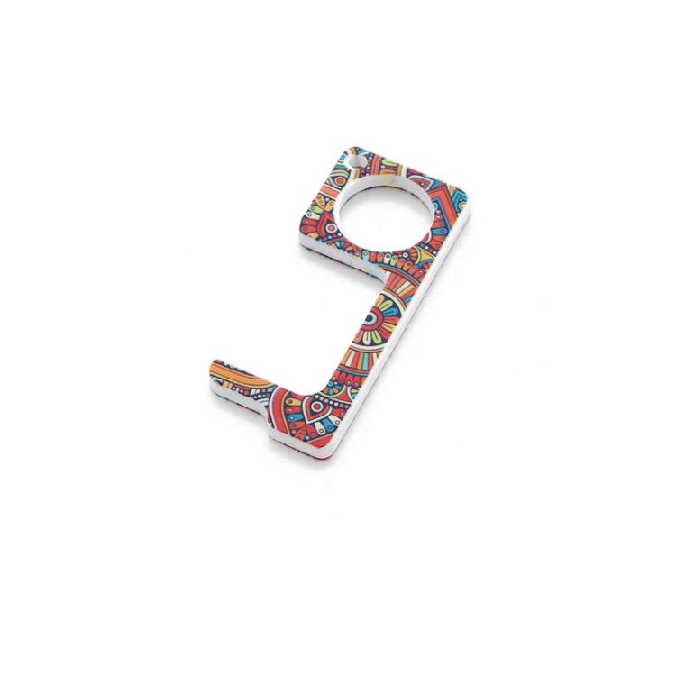 Fashion Contactless Key Chain Operner Door Opener Acrylic