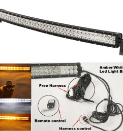 stright curved car 240w 42 led off road light bar 24 modes for 42quot 240w double row off road led light bars led light bar wiring [ 1000 x 1000 Pixel ]