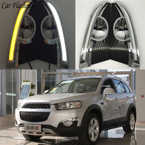 small resolution of wholesale 2pcs 12v led drl daytime running lights for chevrolet captiva 2011 2012 2013 with turn signal relay car styling