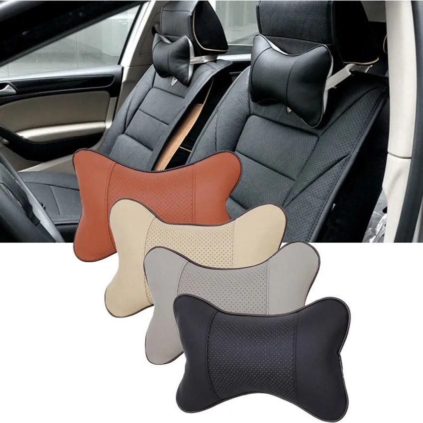 car neck rest pillow artificial leather