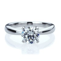 7mm Platinum Plated Silver 1.5ct CZ Solitaire Wedding ...
