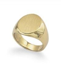 18K Yellow Gold Men's Signet Ring, 35.6G | Tara Fine Jewelry