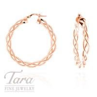 14k Gold Twisted Hoop Earrings Italian Gold Twist And ...