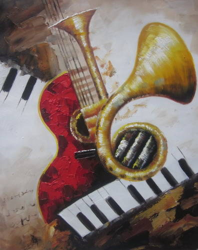 Sell musical instrument decorative abstract painting