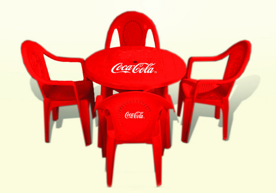 Red Cocacola Plastic Chair and Tableid5515542 Product