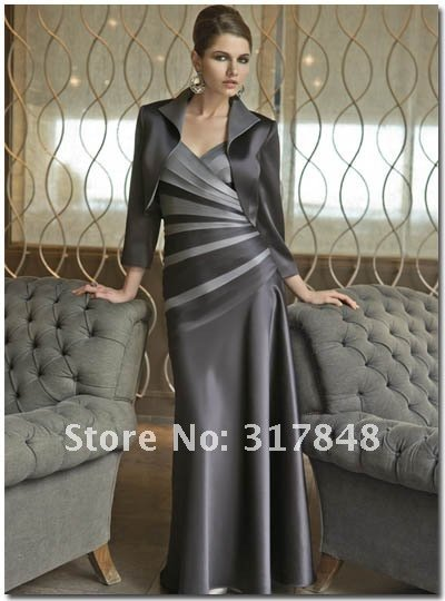 Gorgeous Formal Gray with Jacket Trend Women Dressid