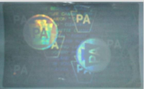 Sell pennsylvania transparent hologram overlayid19427844