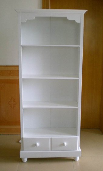 White Wooden Bookshelf With Drawersid8583167 Product