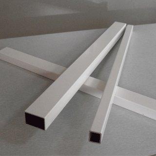 White Powder Coating Aluminum Tube Extruding Profilesid